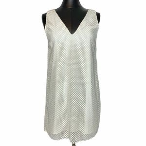 Massimo Dutti Embroidered Lace Overlay Dress
